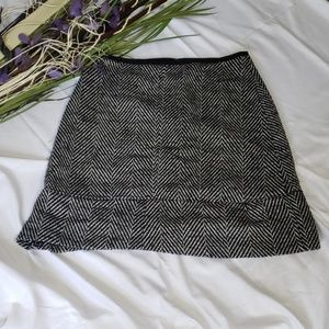 Ann Taylor Wool Tweed Skater Skirt
